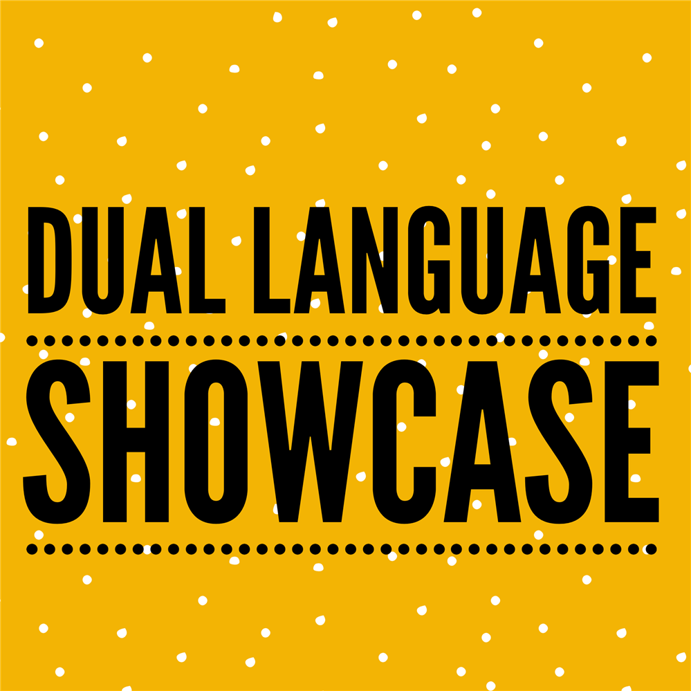 Dual Language Showcase on yellow background