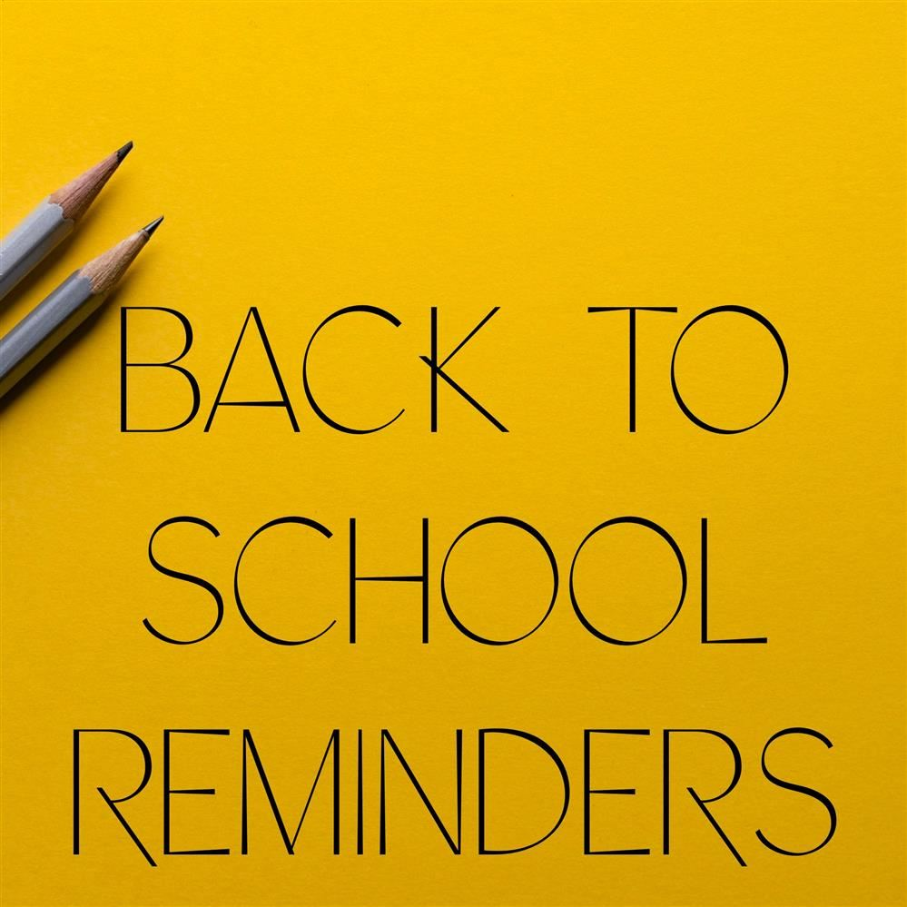 Pencils with back to school reminders